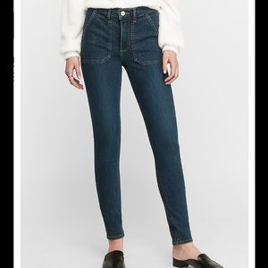 NWT EXPRESS HIGH WAISTED UTILITY SKINNY JEANS